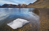 Ice floe on beach, Greenland