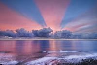 Winter sunset, Monterey Bay, California