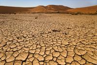 Dry clay pan, Sossusvlei, Namib-Naukluft National Park, Nami