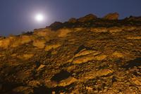 Rocky landscape and full moon, Uibasen Conservancy, Damarala