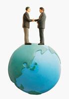 地球と握手