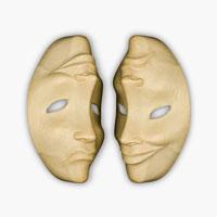 木彫りの仮面