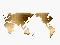メタリックの世界地図