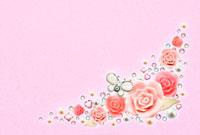 花と宝石のコラージュ