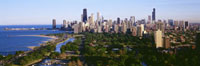 Aerial View Of Skyline,Chicago,Illinois,USA