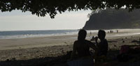 Tourists on the beach,Samara Beach,Costa Rica