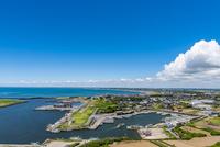 飯岡刑部岬展望台から九十九里浜を望む