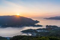 朝日と上盛山展望台からの景色