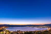 立石公園から諏訪湖 夜景