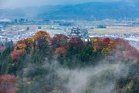 秋の越前大野城