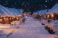 冬の大内宿の夜