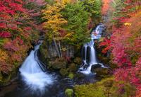 秋の奥日光竜頭の滝 02335008664  写真素材・ストックフォト・画像・イラスト素材 アマナイメージズ