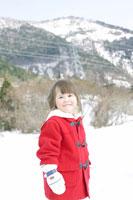 雪山にいる女の子