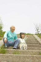 おじいちゃんと女の子