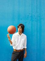 バスケットボールと男子高校生