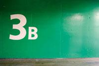 壁に書かれた3B