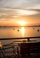 夕日と海 02337000020| 写真素材・ストックフォト・画像・イラスト素材|アマナイメージズ
