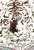 セピア色の虎のポートレートのアップ