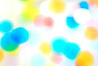 色とりどりの丸い泡