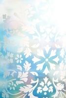 ブルーの背景に白の模様