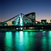 清洲橋のライトアップ 02350000027  写真素材・ストックフォト・画像・イラスト素材 アマナイメージズ