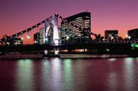 清洲橋のライトアップ 02350000030  写真素材・ストックフォト・画像・イラスト素材 アマナイメージズ