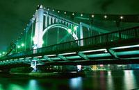 清洲橋のライトアップ 02350000033  写真素材・ストックフォト・画像・イラスト素材 アマナイメージズ