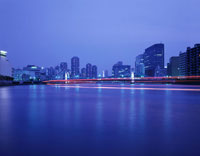 清洲橋のライトアップ 02350000035  写真素材・ストックフォト・画像・イラスト素材 アマナイメージズ