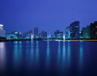 清洲橋のライトアップ 02350000036  写真素材・ストックフォト・画像・イラスト素材 アマナイメージズ