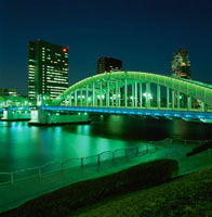 勝どき橋の夜景 02350000058| 写真素材・ストックフォト・画像・イラスト素材|アマナイメージズ