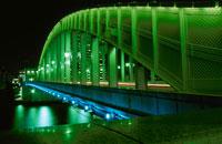勝どき橋の夜景 02350000059  写真素材・ストックフォト・画像・イラスト素材 アマナイメージズ