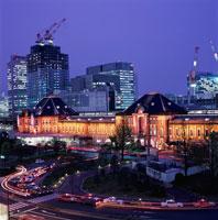 丸ビルから見た東京駅