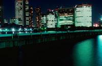 汐留シオサイトビル群の夜景