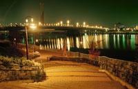 夢の大橋のライトアップ