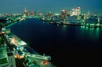 隅田川や勝どき橋の夜景