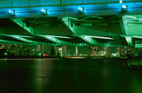 勝どき橋下から見た中央大橋 02350000242  写真素材・ストックフォト・画像・イラスト素材 アマナイメージズ