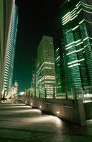 汐留周辺のビル群の夜景