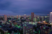 勝どき付近から豊洲方面を望む夜景 02350000445  写真素材・ストックフォト・画像・イラスト素材 アマナイメージズ