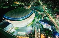 東京ドームのライトアップ