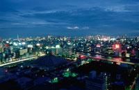 隅田川の夜景 02350000550  写真素材・ストックフォト・画像・イラスト素材 アマナイメージズ