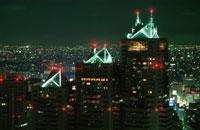 新宿の夜景 02350000551| 写真素材・ストックフォト・画像・イラスト素材|アマナイメージズ