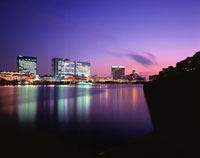 東京湾岸夜景 02350000618| 写真素材・ストックフォト・画像・イラスト素材|アマナイメージズ