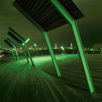 横浜港大さん橋国際客船ターミナルの夜景