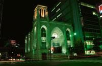 横浜指路教会のライトアップ