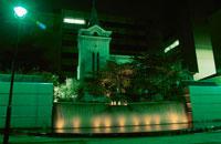横浜海岸教会のライトアップ
