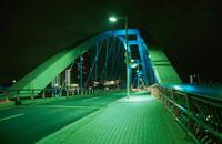 あゆみ橋のライトアップ