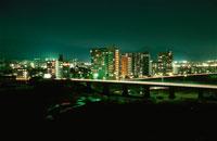 相模川とあゆみ橋の夜景