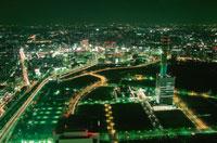 横浜メディアタワーの見える夜景