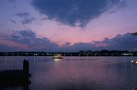 八景島シーパラダイスから見た夜景