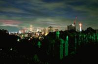 外人墓地付近の夜景
